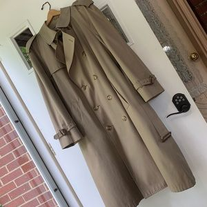 Brooks Brothers Double Breasted Trench Coat Lined